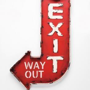 Dekorace na zeď Exit