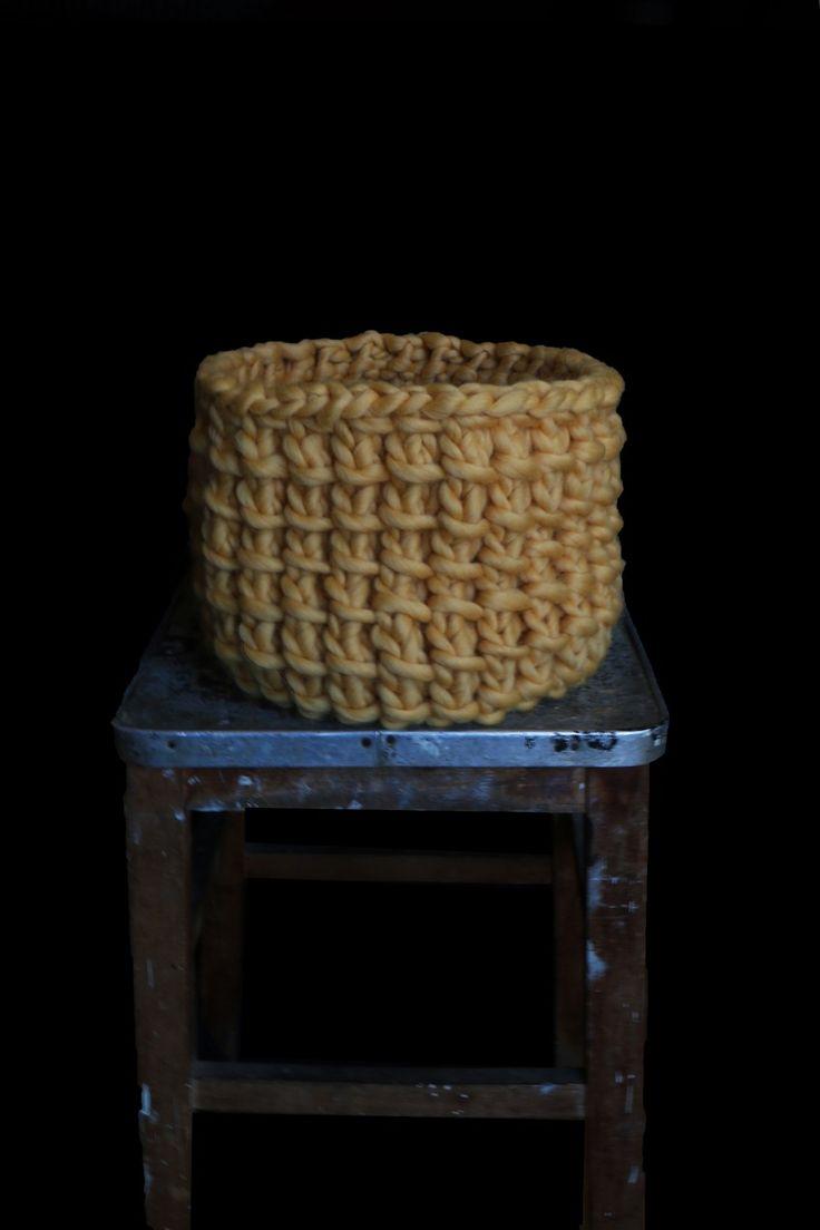 Ken Basket #kenbasket #knitdecocollection #decowak #deco #weareknitters #morganemathieu  http://www.weareknitters.com/en/knitting-kits/ken-basket