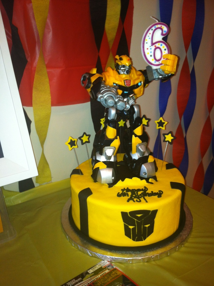 Awesome Bumblebee Transformer Cake Made For My Little Boy
