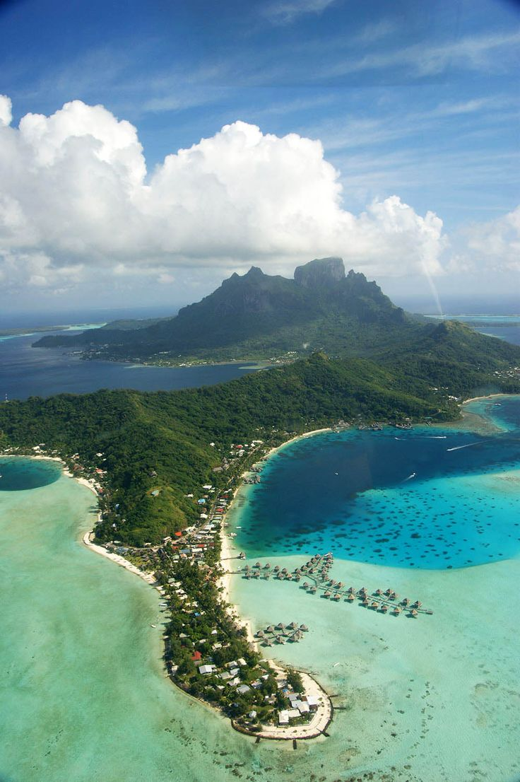French Polynesia from helicopter | Departful