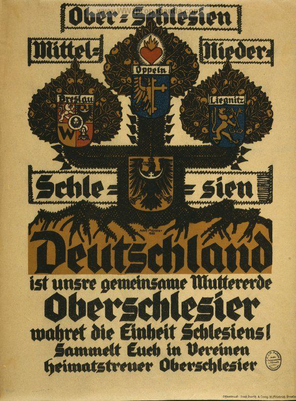 Ober-Schlesien, Mittel-Schlesien, Nieder-Schlesien, Deutschland ist unsere gemeinsame Muttererde ...