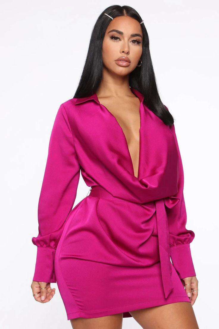 I'm The One Mini Dress Magenta in 2020 Fashion nova