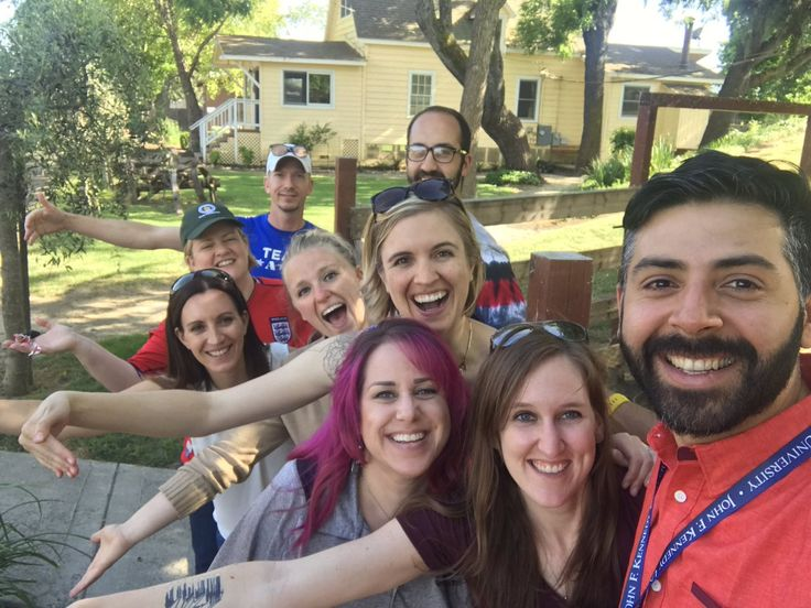John F Kennedy University is a private university in California. Its Sport Psychology department focuses on the essential skills required to become a qualified mental skills coach or sports psychologist. Here's an outdoors office selfie posted by some of the team at the recent action-packed JFKU Sports Psychology Retreat.