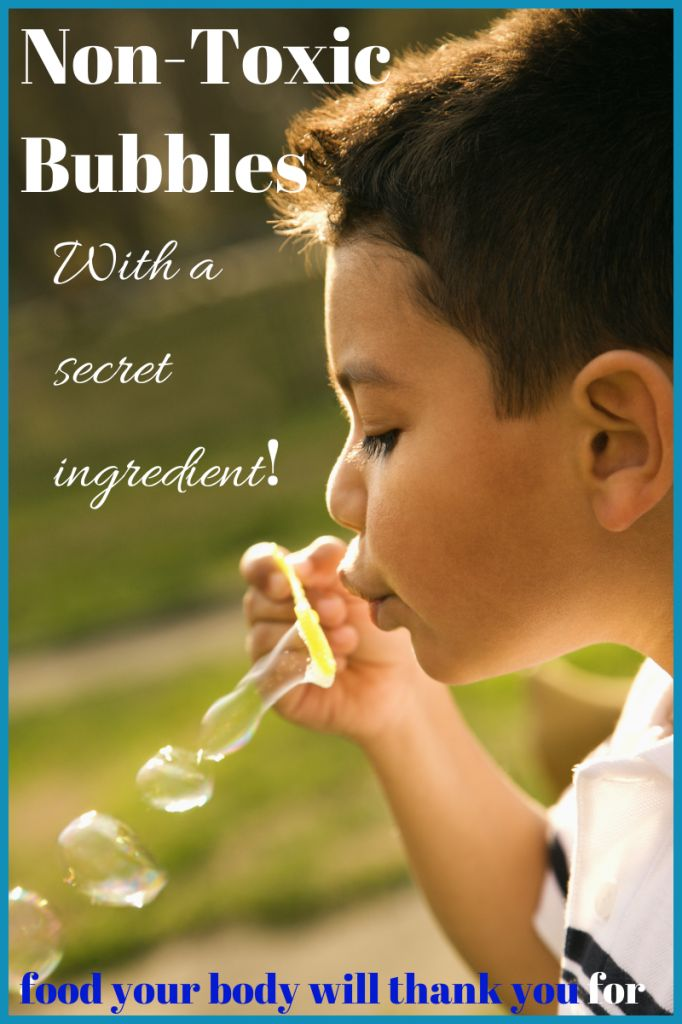 Non-toxic Bubbles (with a secret ingredient!) | Food Your Body Will Thank You For #oilyfamilies