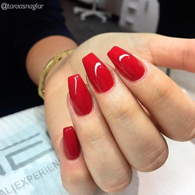 60 Trendy Acrylic Nails Designs You Must Try Red Acrylic Nails Red Nails Red Nail Designs