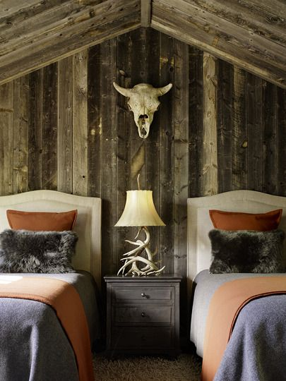 Rustic bedroom. Carney Logan Burke Architects