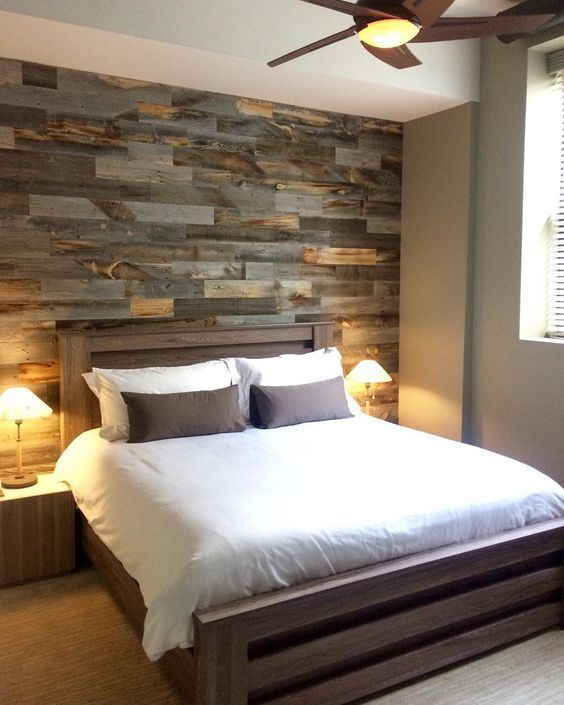 #walls #textures #inspiration | Faux Pallet Wall It's made from thin pieces of actual wood - You just trim, peel and stick it up on your wall.