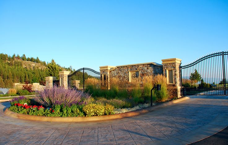 neighborhood entrance landscaping | Lake Pointe | A Private Gated Community bordering the Eagle Bend Lake ...