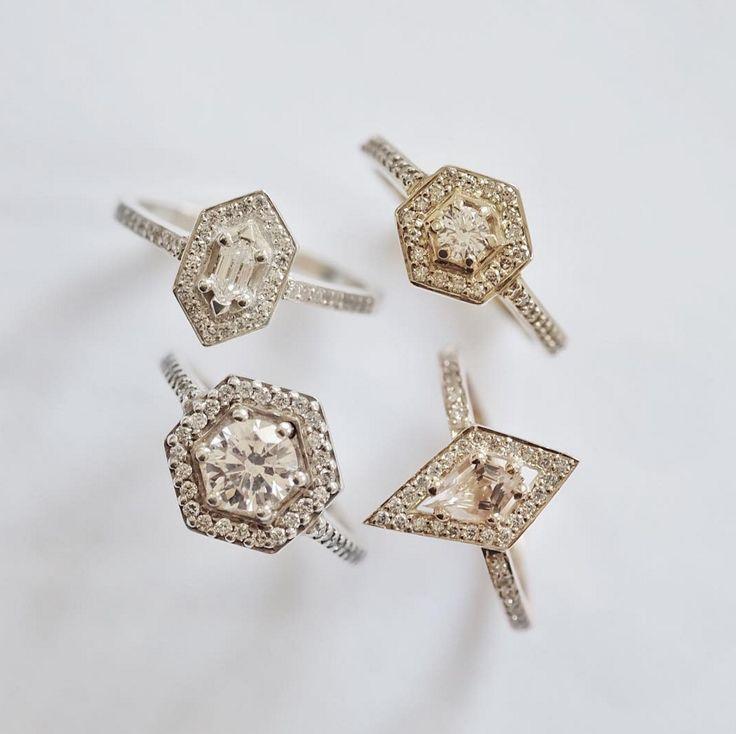 Halo engagement rings! www.meadowlarkjewellery.com