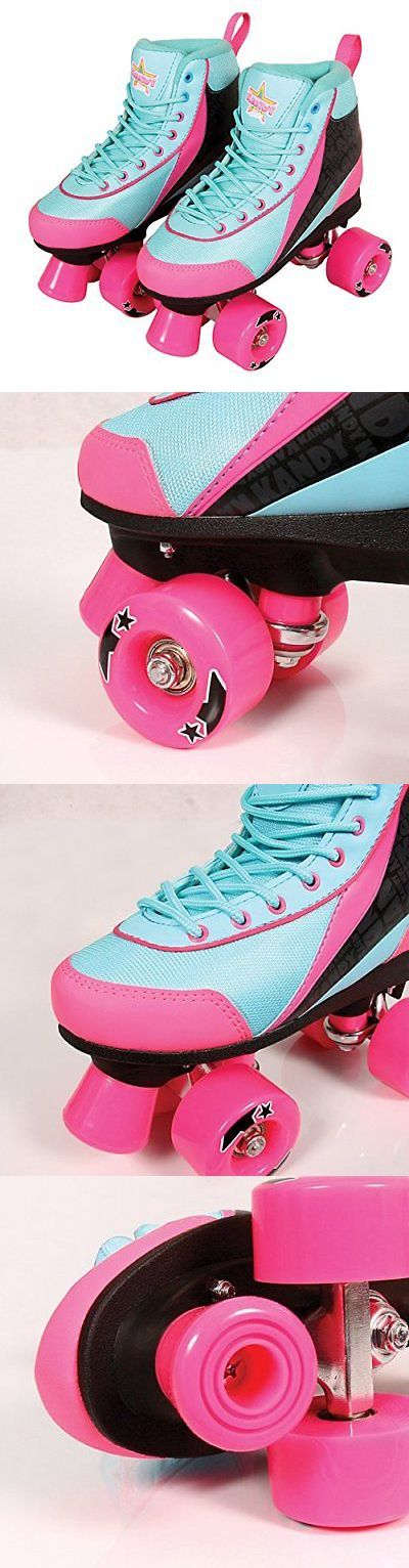 Women 16261: Kandy Skates Summer Days Teal And Pink Roller Skates - Size 13 Junior -> BUY IT NOW ONLY: $91.98 on eBay!