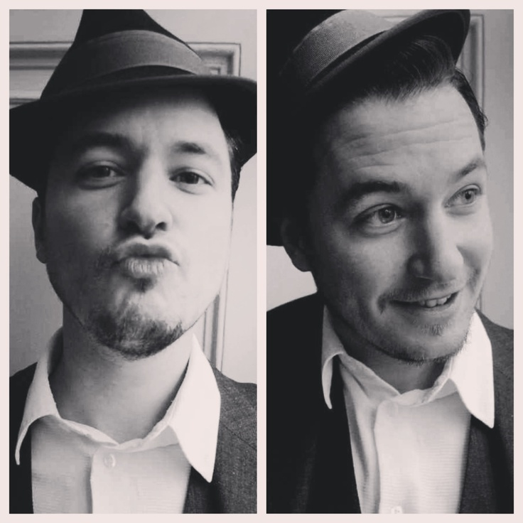 """Oliver Gerrish, Countertenor, black and white duo frame - """"The Artful Dodger"""""""
