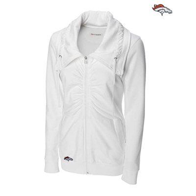 cutter and buck women's ruched Denver broncos | Cutter & Buck Denver Broncos Womens Squeeze Play Full Zip Jacket ...