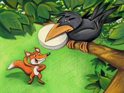 Lire l'histoire : Le Corbeau et le Renard - Fables-poesies - Il était une histoire