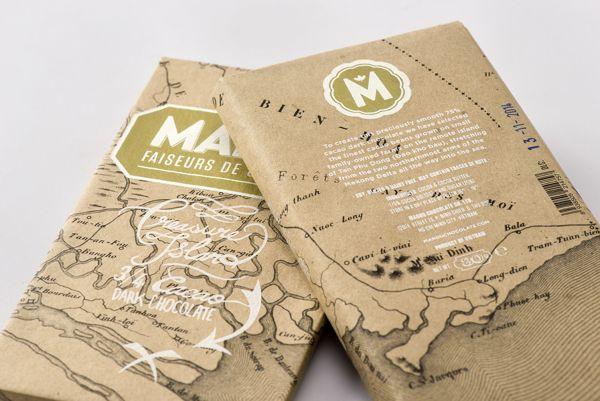 Marou Chocolate Treasure Island Bar on Packaging Design Served