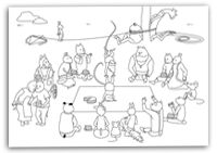 Picknick met taart interactief