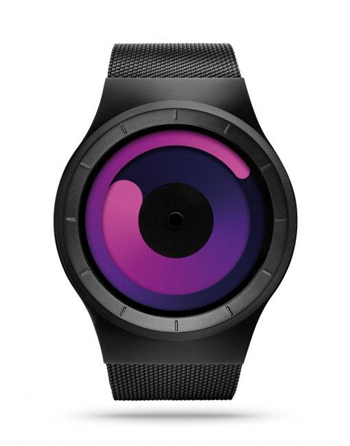 Modern watches: The ZIIIRO Mercury in Black/Purple. Find this and more modern watches at bofb - best of both - or see many more modern watches in our store in Amsterdam.