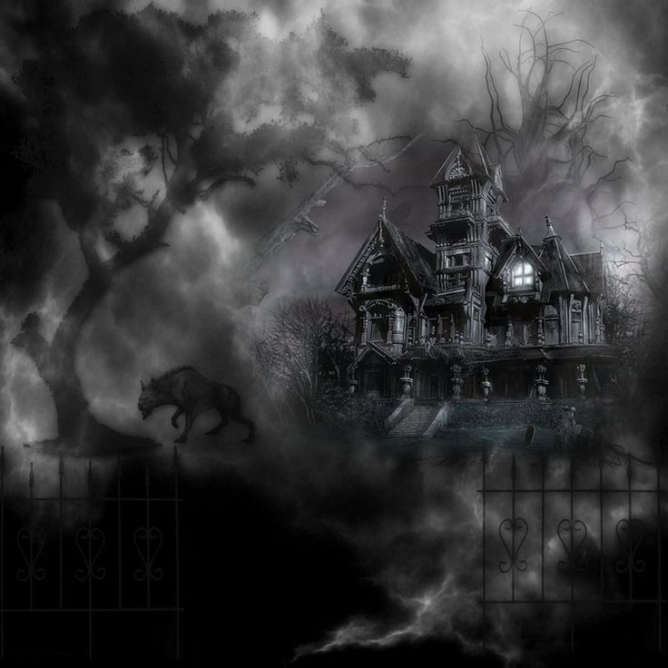 deviantart graveyard | Haunted Graveyard House by mysticmorning