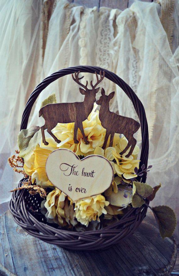 Buck and doe bride and groom-deer wedding cake by MorganTheCreator