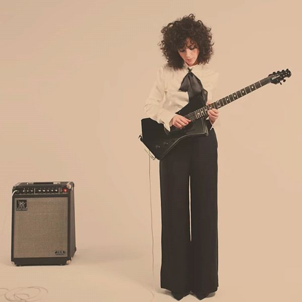 """St. Vincent's Latest Guitar Collaboration With """"Room for Breasts"""""""