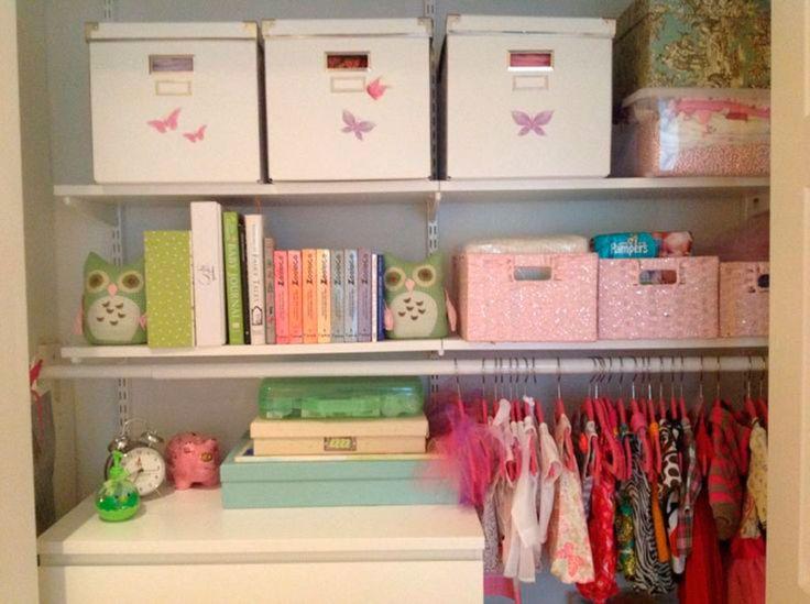 Ideias de como organizar o armário do bebê