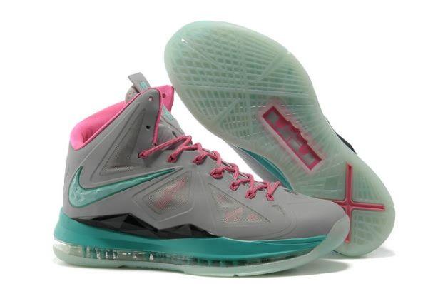 Glow In Dark Nike Lebron X South Beach - Stealth Grey/Pink/Black Diamond  Mens-
