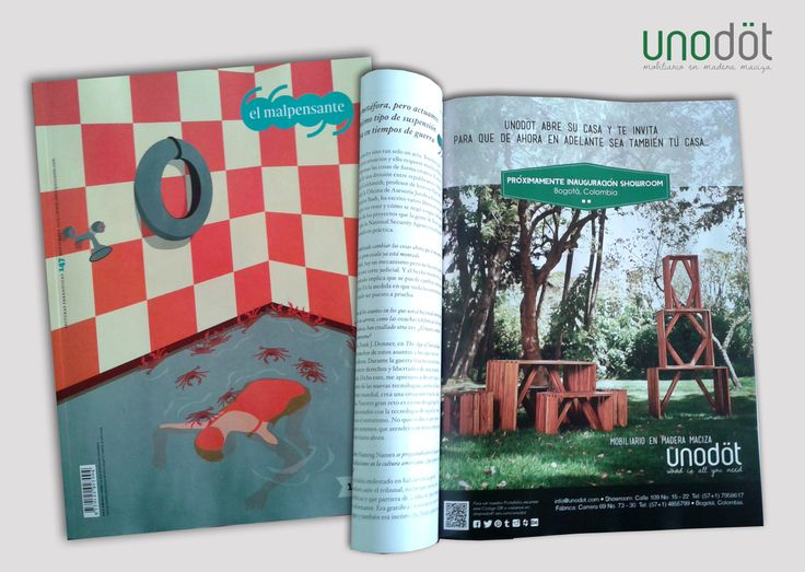 Nuestra pauta en la Revista El Malpensante para el mes de Noviembre de 2013, acompañados de la colección angular.