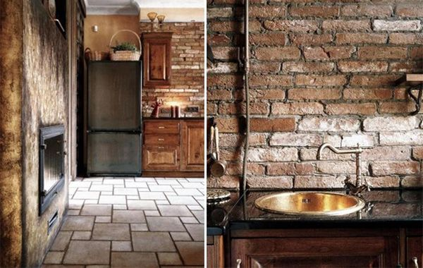 love for exposed interior brick accents  Industrial Style Interior Design on Budget | InteriorHolic.com