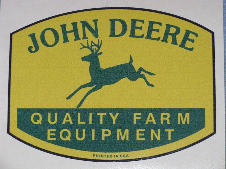 "JOHN DEERE 3.75"" QFE 1950's PRINTED IN USA DECAL STICKER 4 LEGGED TRACTOR GATOR"