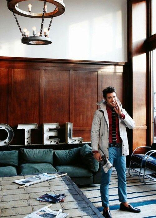 44 night in the hotel.  Josh Bowman, GQ, 2.12