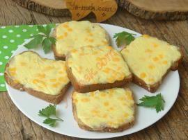Peynirli Ekmek Dilimleri