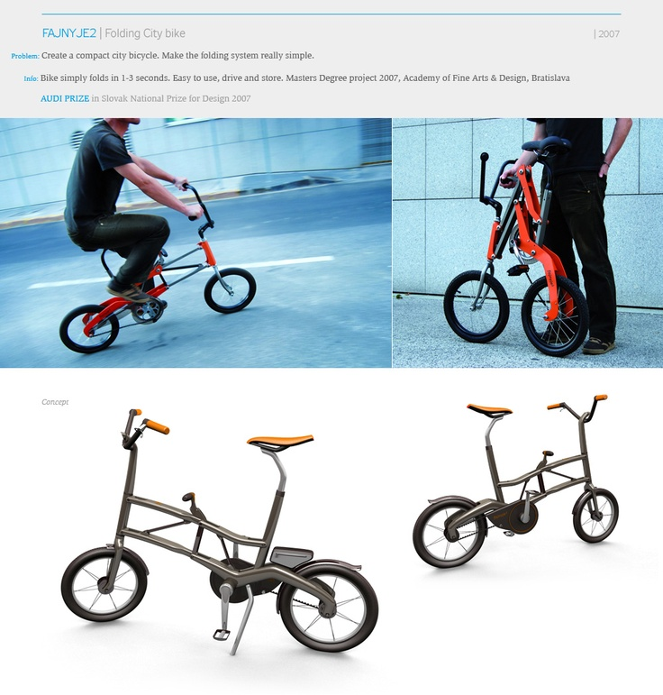 66 best folding bike images on pinterest bicycles for Mercedes benz folding bike
