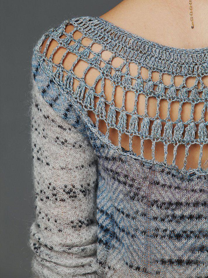 Crochet Back Pattern Pullover