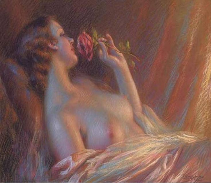 Delphin EnjolrasDelphin Enjolras французский художник испанского происхождения родился 13 мая 1857 года в Courcouron, Ardeche. Enjolras в начале своего творчества рисовал пейзажи, но потом переключился на портреты молодых элегантных женщин, ведущих светский образ жизни. В работе он использовал прежде всего акварель и пастель, но иногда писал маслом.    Он создал свой собственный стиль, изображая женщину, одетую в шелка, освещённую мягким вечерним светом.