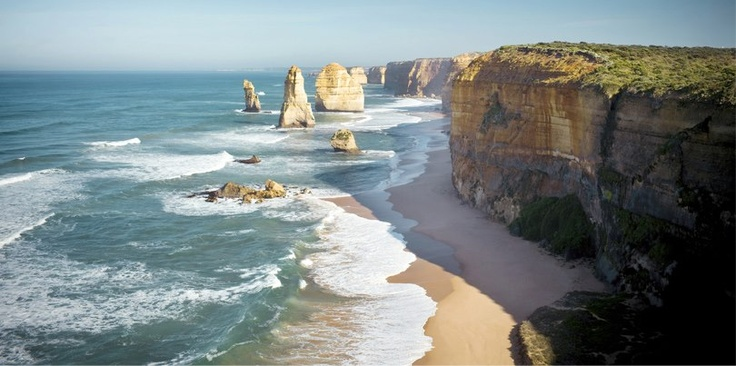 The majestic Apostles by the Great Ocean Road in Victoria, Australia are a must visit!   This beautiful tourist attraction is a result of erosion of soft limestone which were once cliffs. A sight which leaves visitors speechless because of its natural beauty. #CoxandKings