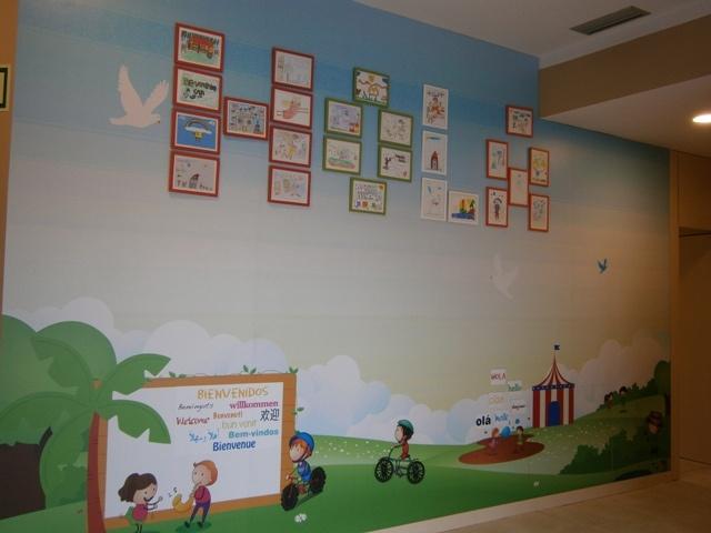 Mural de bienvenida