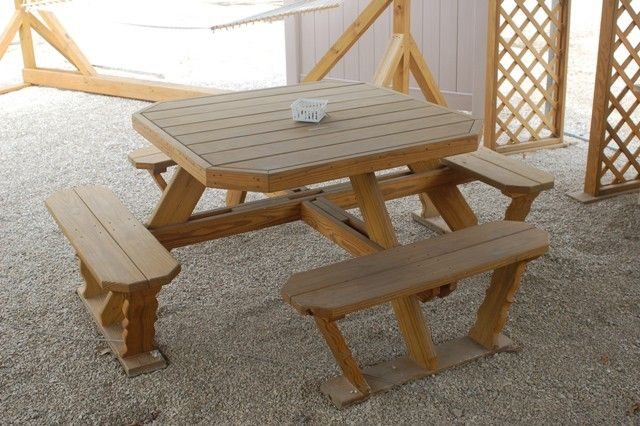 Octagonal picnic table plans woodworking projects plans for Octagon picnic table blueprints