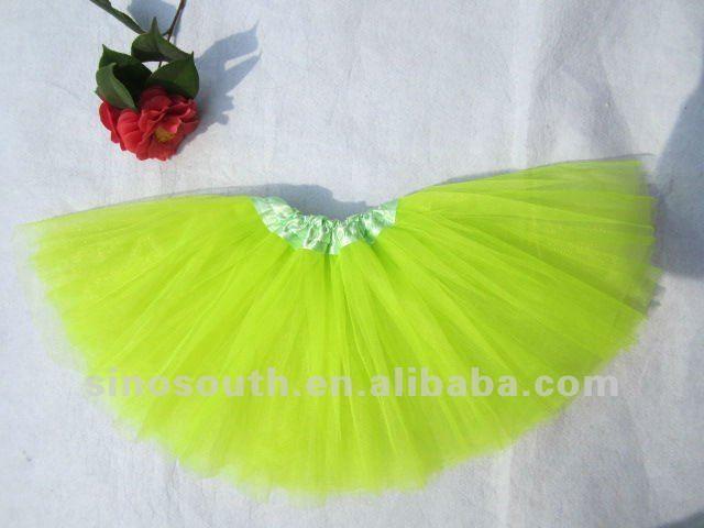 Бесплатная доставка neon зеленый лайм туту юбки ребенок танцы кроссовки детская балетная пачка юбки девушки дети