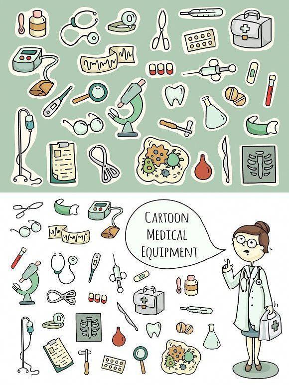 Pushy Medical Equipment Watches Medicalclinic Medicalsuppliescrafts Sketch Note Ausdrucken Zeichnungen