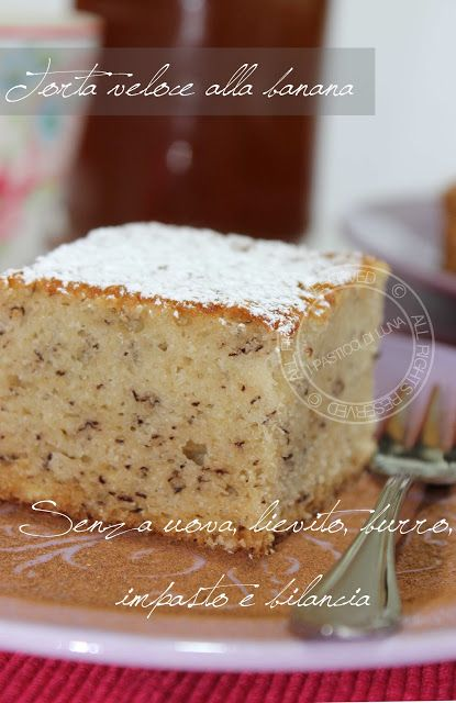 The Moon pies: banana cake quick - recipe without eggs, butter, yeast, no kneading and no balance