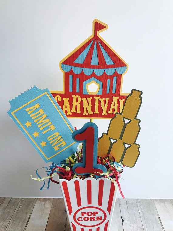 Carnival Birthday Party Centerpiece Circus Birthday