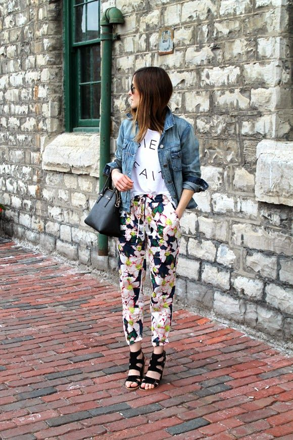 Outfits File: Floral Drawstring Pants