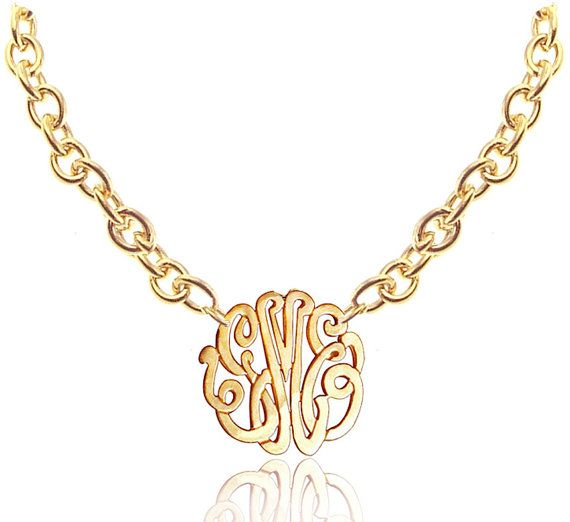 Personalized Monogram Initials  Necklace by KetiSorelyDesigns, $59.00
