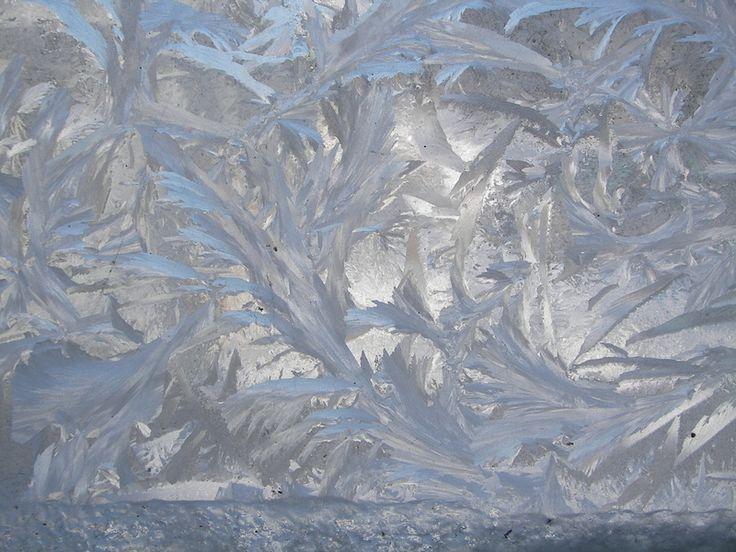 frost on windowpane