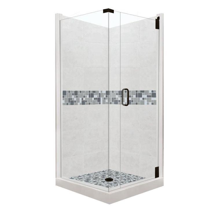 American Bath Factory Newport Grand Hinged 42 In. X 42 In. X 80 In