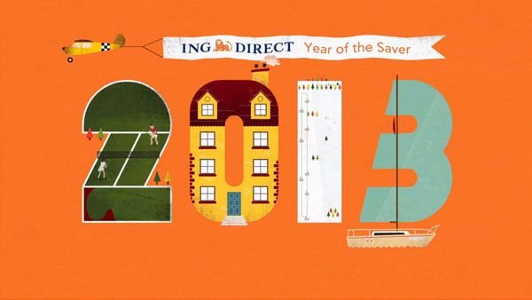 Motion Graphics for ING Direct – Year of the Saver – Commercial