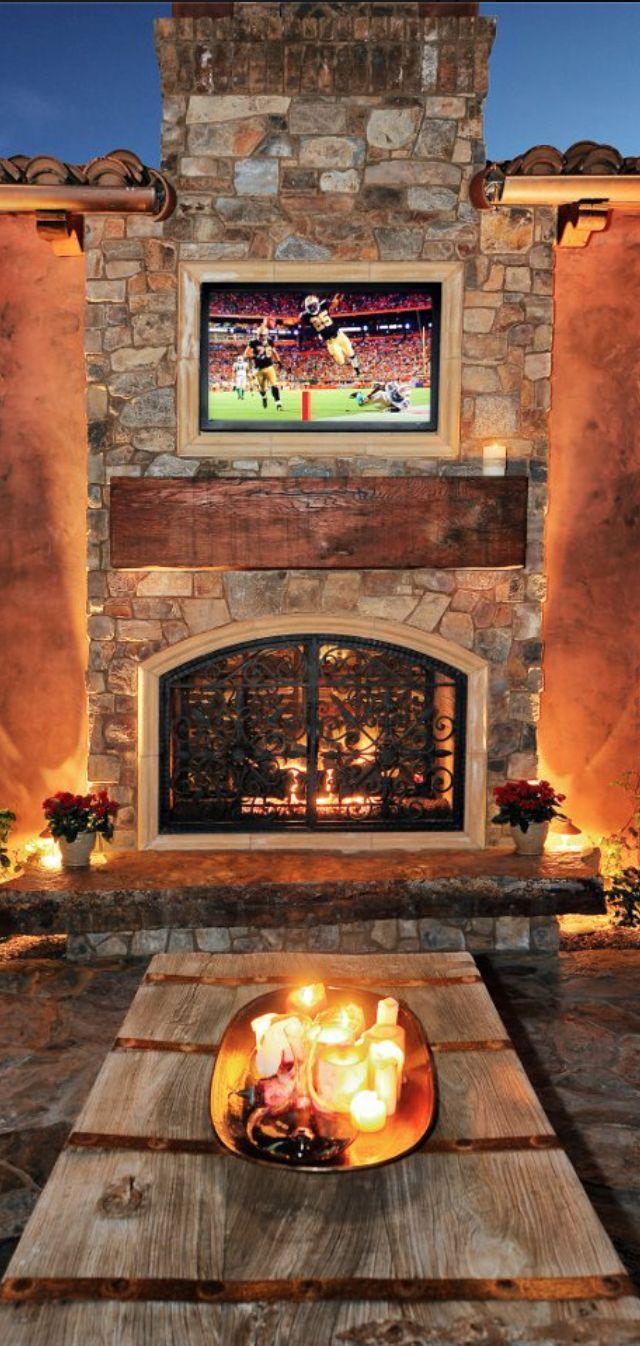 1561 best tuscan decor images on pinterest for Spanish style outdoor fireplace