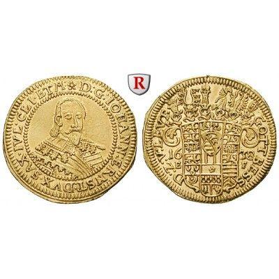 Sachsen, Sachsen-Coburg-Eisenach (Alt-Gotha), Johann Ernst, Dukat 1638, vz: Johann Ernst 1633-1638. Dukat 1638 Coburg. Spruchdukat.… #coins