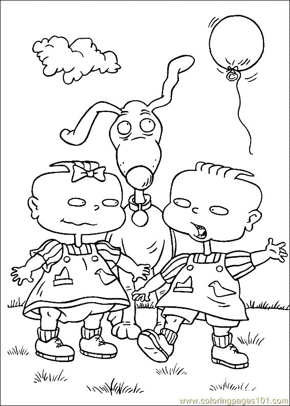 13 best rugrats birthday images on pinterest | rugrats, coloring ... - Rugrats Characters Coloring Pages