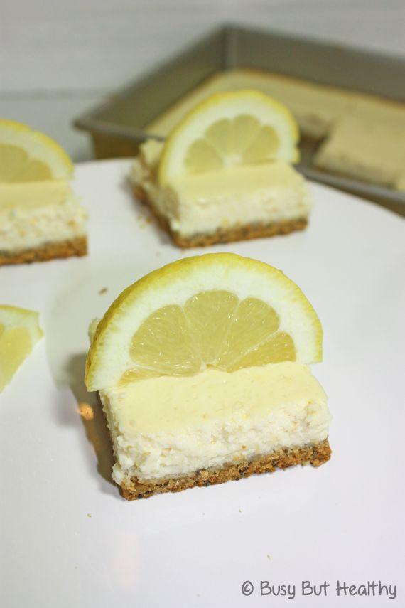 Lemon Cheesecake Protein Bars - @Busy But Healthy (Kristine Fretwell ...