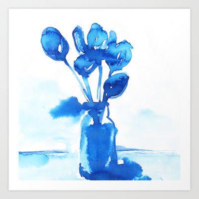 Tulips Art Print by Zsófi Porkoláb